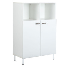 White Sheridan Storage Cabinet with Shelves
