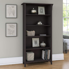 Vintage Black Salinas 5 Shelf Bookcase
