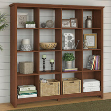 Serene Cherry George 16 Cube Bookcase