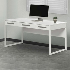 White Sheridan 3 Drawer Desk