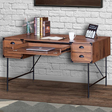 5 Drawer Zosimos Large Writing Desk