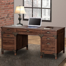 Dark Timber Morrison Executive Desk