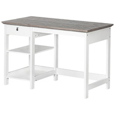 Grey & White Bronville Writing Desk