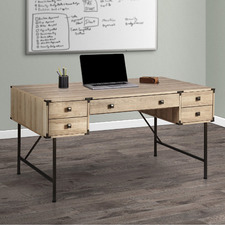 Light Timber Mannington 150cm Writing Desk