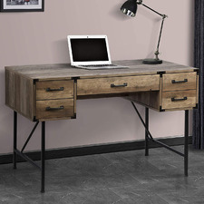 Rustic Dark Timber Oswald Writing Desk