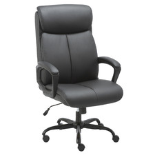 Puresoft High-Back Faux Leather Office Chair