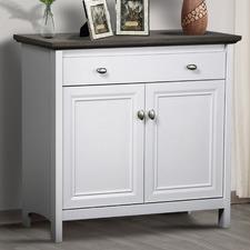 Grey & White Armitage 2 Doors Storage Cabinet