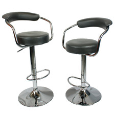 Cali Faux Leather Adjustable Barstools (Set of 2)