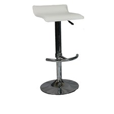 Chrome Base PU Bar Stool (Set of 2)