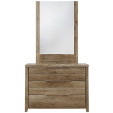 Alexa Rustic 3 Drawer Dresser & Mirror