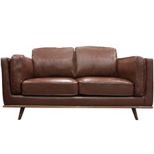 Brown Brooklyn Faux Leather 2 Seater Sofa