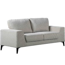 Light Grey Hanna 3 Seater Sofa