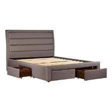 Grey Megan Queen Storage Bed Frame