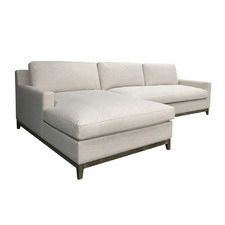 White Twilight 3 Seater Sofa with Left Chaise