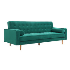 Plast 3 Seater Velvet Sofa Bed