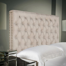 Beige Sean King Linen Headboard