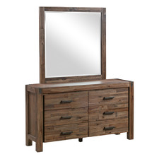 Symphony 6 Drawer Dressing Table with Mirror