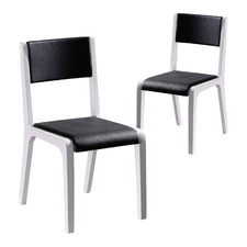 Albouze Faux Leather Dining Chairs (Set of 2)