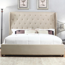 Paris French Provincial Fabric Queen Bed