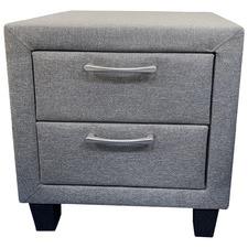 Grey Stockholm Upholstered Bedside Table