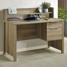 Medium Timber Cecille Study Desk with Hutch