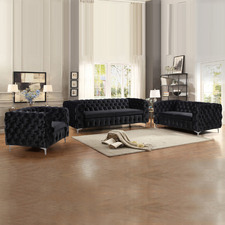 Eddard 6 Seater Velvet Sofa & Armchair Set