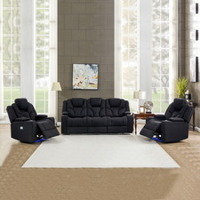 Luella 5 Seater Upholstered Recliner Sofa & Armchair Set