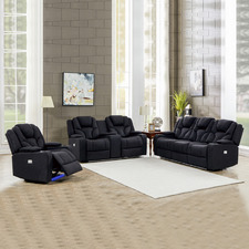 Luella 6 Seater Upholstered Recliner Sofa & Armchair Set