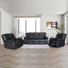 Ipanema 6 Seater Faux Leather Recliner Sofa & Armchair Set