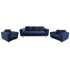 York 6 Seater Velvet Sofa & Armchair Set