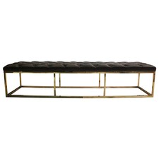 Monica Button Tufted Bench