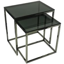 Black Smoke Tino Side Tables Set