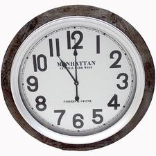 78cm Walnut Manhattan Round Clock