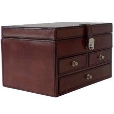 Tan Tobacco Chatel Leather Jewellery Dresser
