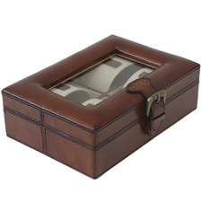 Tan Tobacco Geneve Leather Watch Box