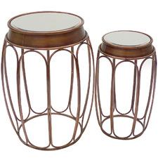 2 Piece Copper Jonty Side Table Set