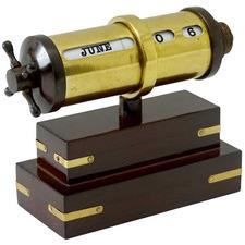 Walnut & Brass Chase Desk Calendar