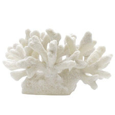 White Pacific Faux Coral Accent