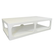 White Havana Pine Wood Coffee Table