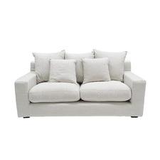 Cynthia Linen Slipcover 2 Seater Sofa