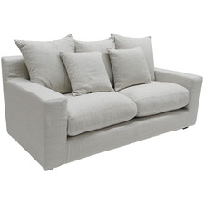 Grey Cynthia 3 Seater Upholstered Sofa
