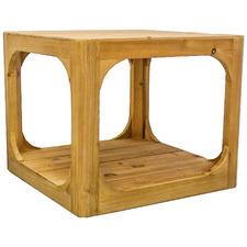Natural Havana Pine Wood Side Table