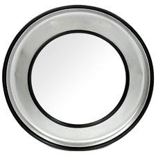 Silver & Black Grozney Round Metal Wall Mirror