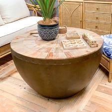 Moja Mango Wood & Steel Coffee Table
