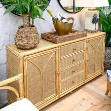 Natural Surrey Bamboo & Rattan Sideboard