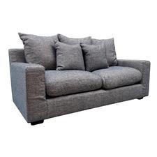Cameron 3 Seater Linen-Blend Sofa