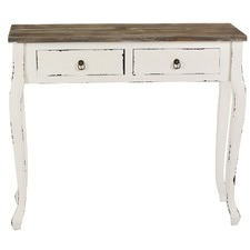 2 Drawer Distressed Console Table