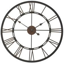 Roman Numerals Iron Clock