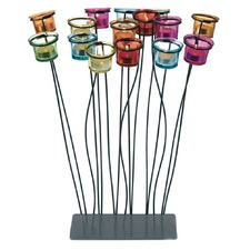 15-Cup Candle Holder on Metal Base