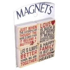 Set of 4 Life & Love Magnets (Set of 4)